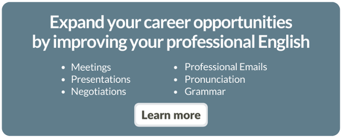 Expand your career opportunities by improving your professional English
