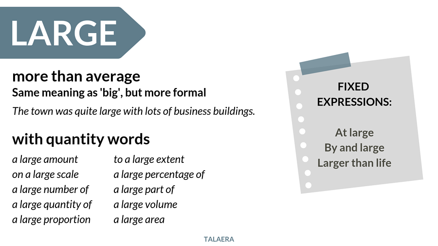 Big vs large - when to use large - Talaera