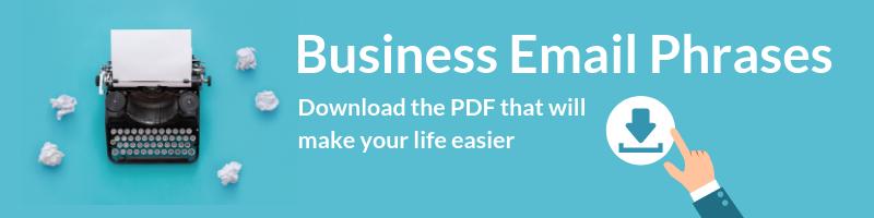 Business Emails phrases PDF vocabulary - Talaera