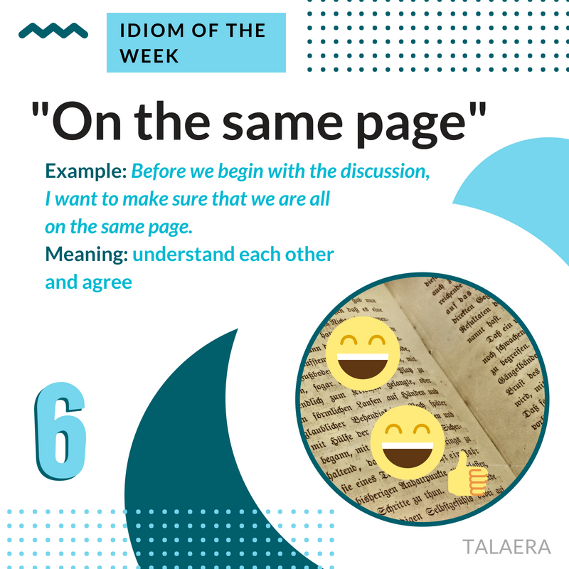 Business English Idioms - on the same page