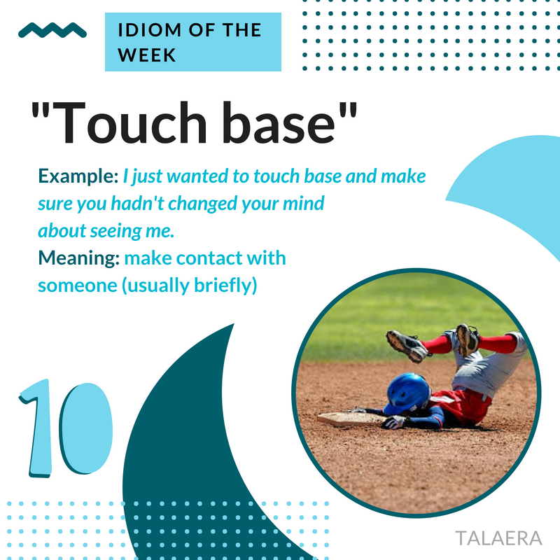 Business English Idioms - touch base