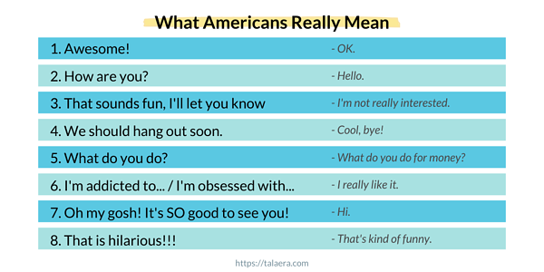 What Americans Really Mean - Talaera Blog Business English