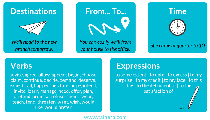 When to use the preposition TO