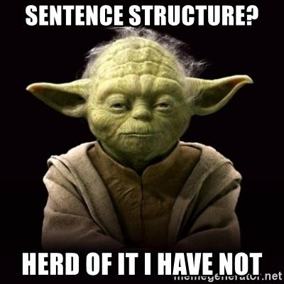 Sentence structure - Talaera