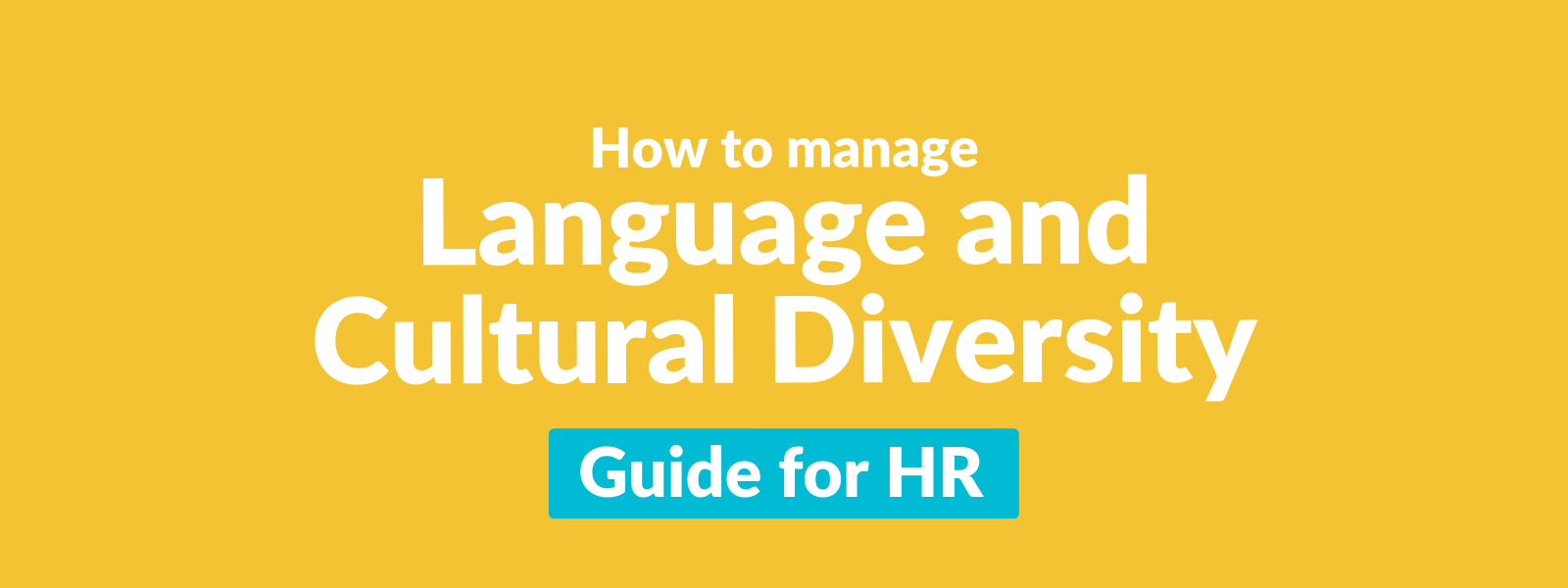 How to manage language and cultural diversity Guide for HR Talaera-1