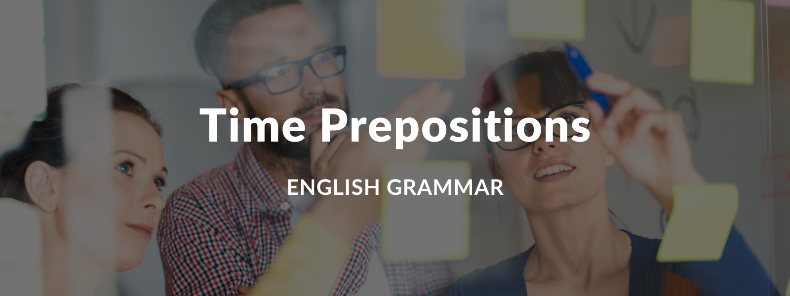 Prepositions of time: IN, ON, AT - Explanation and exercises